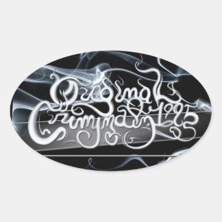 Original Criminalz: Smoke Logo Oval Sticker