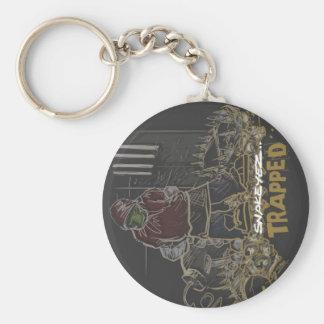 Original Criminalz Snakeyez Trapped Basic Round Button Keychain