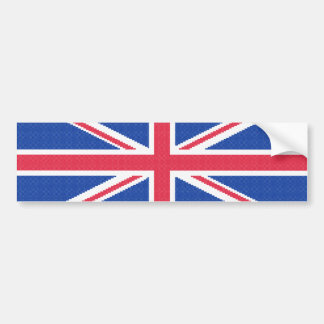 Original cross-stitch design Union Jack Bumper Sticker