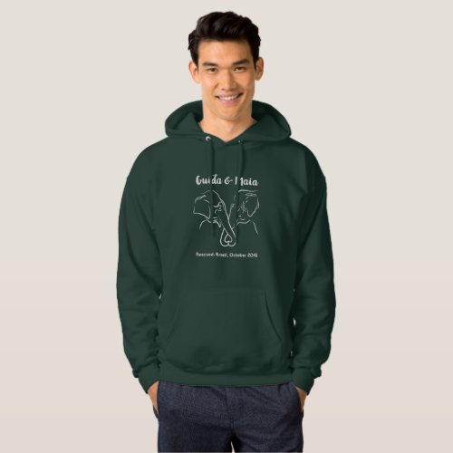 Original dark sweatshirt with Maia  Guida