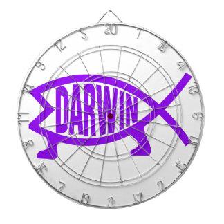 Original Darwin Fish (Purple) Dart Board