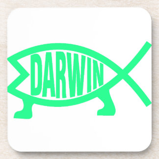 Original Darwin Fish (Seafoam) Coaster