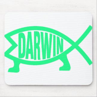 Original Darwin Fish (Seafoam) Mouse Pad