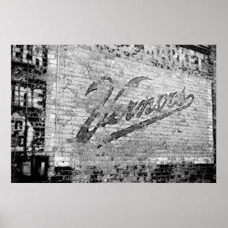 Original de Ann Arbor Michigan de la pared de Poster