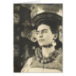 Original de Charola de la estafa de Frida Kahlo Tarjeta De Felicitación
