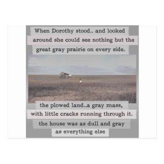 Original de Kansas de Dororthy con palabras Tarjetas Postales