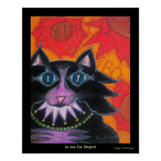 Original de Le Jazz Cat Poster