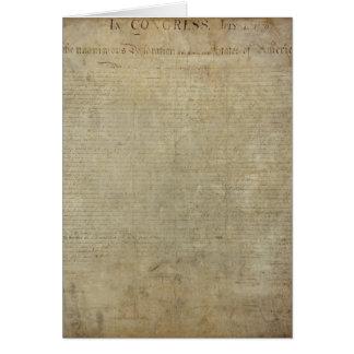 Original Declaration of Independence Card