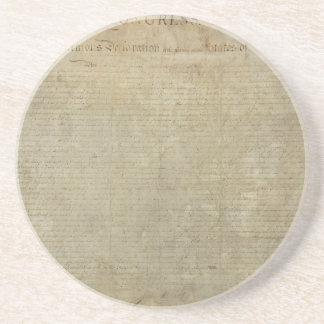 Original Declaration of Independence Drink Coasters