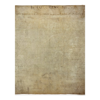 Original Declaration of Independence Letterhead