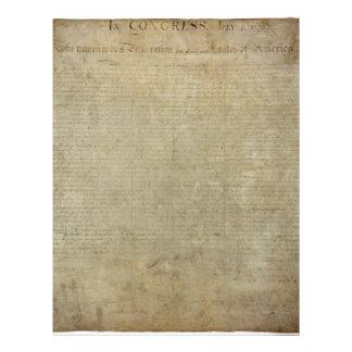 Original Declaration of Independence Letterhead