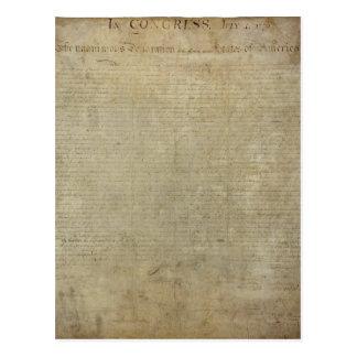 Original Declaration of Independence Postcard