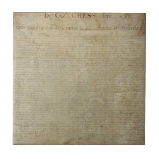 Original Declaration of Independence Small Square Tile