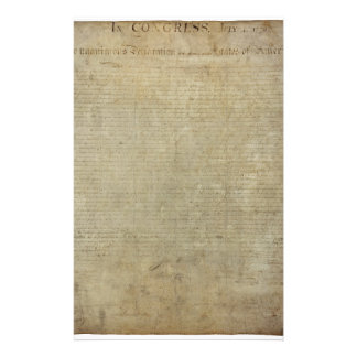 Original Declaration of Independence Customized Stationery