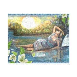 original del aceite del tela del su del stampa lienzo envuelto para galerias