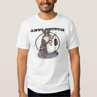 Original del Anti-Espía ningún logotipo de la rata Playera