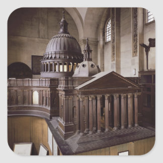 Original Design for St. Paul's Cathedral Square Sticker
