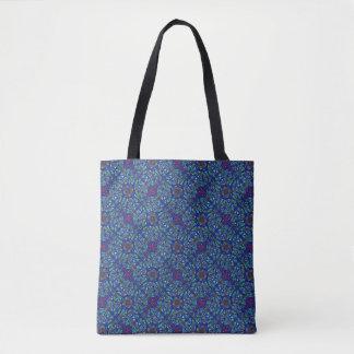 Original design intricate squares tote bag
