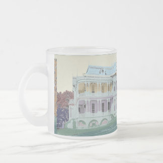 Original Design of Victorian Treasure Frosted Glass Coffee Mug