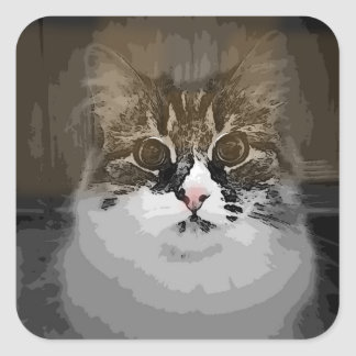 Original Design Siberian Cat Stickers