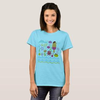 Original designers t-shirt with Sea creatures