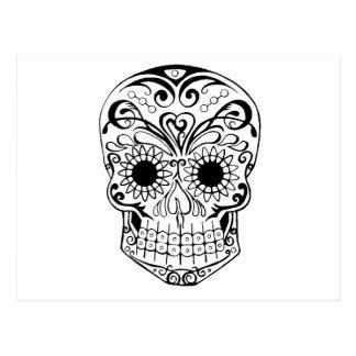 Original dibujada por el cráneo del azúcar del art postal