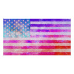 Original digital painting of the American flag. Posters