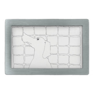 Original Dog Drawing Chinese Dog Year 2018 B B Rectangular Belt Buckle