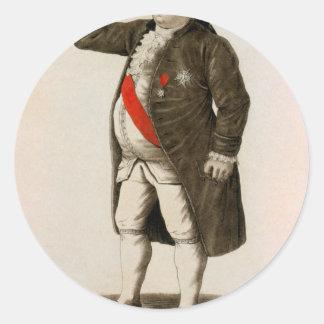 Original draw of Louis XVI of France Classic Round Sticker