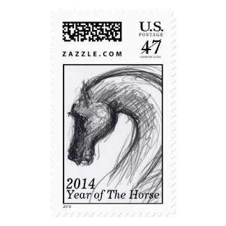 Original Drawing - Horse - Horse Year 2014 Postage