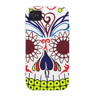 Original Drawn By Artist Sugar Skull Case-Mate iPhone 4 Covers