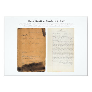ORIGINAL Dred Scott v Sandford 1857 Card