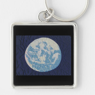 Original Earth Day Flag Silver-Colored Square Keychain