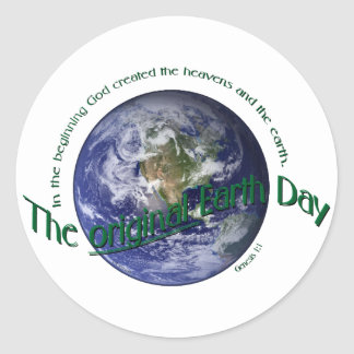 Original Earth Day Round Stickers