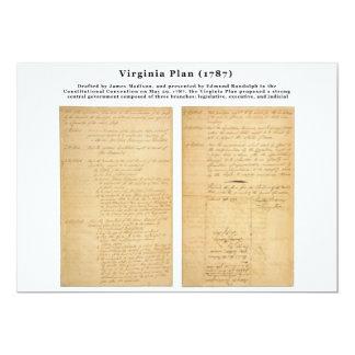 ORIGINAL el plan 1787 de Virginia Invitacion Personalizada