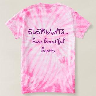 Original Ele-art on pink tye dye. T-shirt