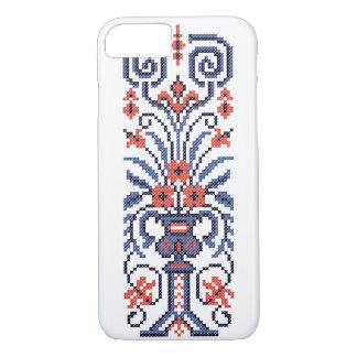 Original Elegant cross-stitch floral flower design iPhone 7 Case