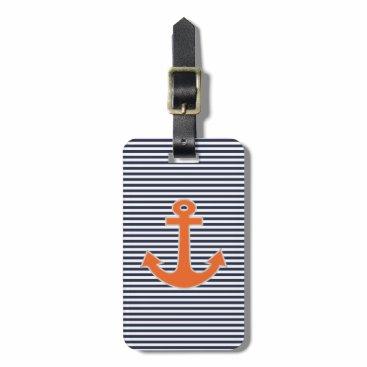 Original Embroidery Anchor Captain Nautical Bag Tag