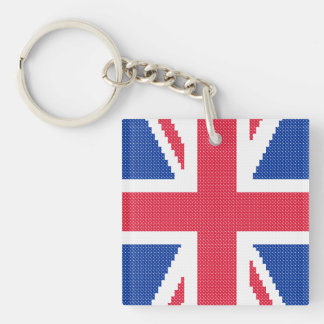 Original embroidery design Cross-stitch Union Jack Keychain