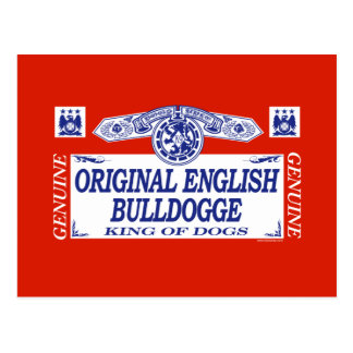 Original English Bulldogge Postcard