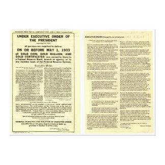 ORIGINAL Executive Order 6102 April 5 1933 Canvas Print