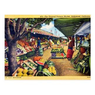 Original Farmer s Market Hollywood California Post Card