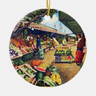 Original Farmer's Market, Hollywood, California Ornament