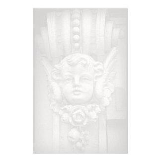Original Fine Art Photo Gothic Cherub Carving Stationery