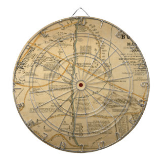 ORIGINAL First Battle of Bull Run Civil War Map Dartboard With Darts
