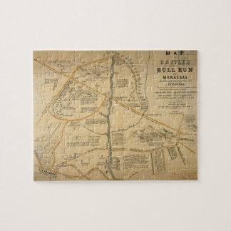 ORIGINAL First Battle of Bull Run Civil War Map Jigsaw Puzzle