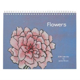 Original flower art calendar