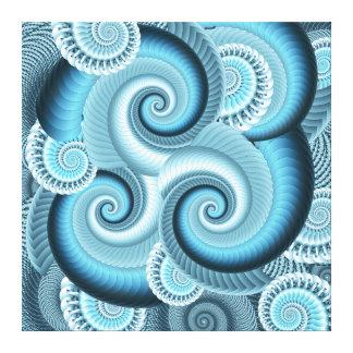 Original Fractal Spiral Design (Matches Pillows) Stretched Canvas Prints
