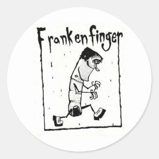 Original Frankenfinger Logo Classic Round Sticker