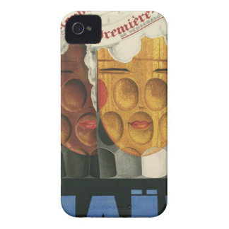 original French beer Art Deco Poster 1929 iPhone 4 Case-Mate Case
